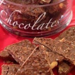 Bouchées croustillantes chocolat, cacahuètes