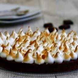 Tarte au chocolat meringuée