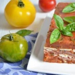 Terrine de tomates jambon de parme et parmesan