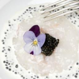 Carpaccio de Saint Jacques et caviar