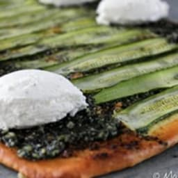 Pizza Verde Courgette et Ricotta