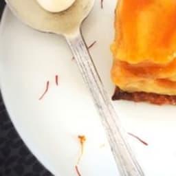 Tatin de poires au safran