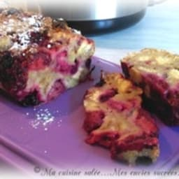 Pudding diplomate aux fruits rouge