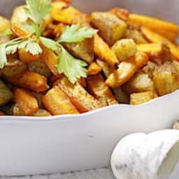 Duo de carottes et pommes de terre rôties aux épices