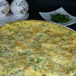 Omelette aux pleurottes