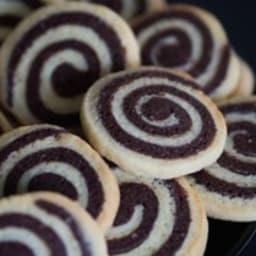 Sablés spirales à la vanille et au chocolat