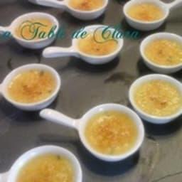 Mini crème brûlée au roquefort