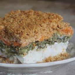 Crumble de poisson et de légumes au lait de coco