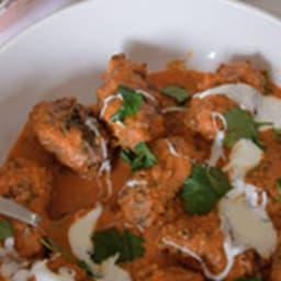 Curry de kefta de boeuf et lentilles