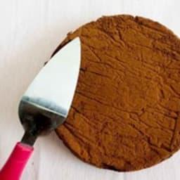 Mousse au chocolat cuite au four