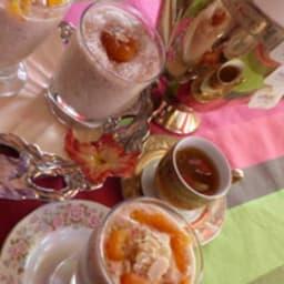 Perles de tapioca au thé et crème de coco