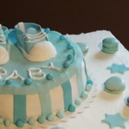 Gâteau baby shower au curd framboise