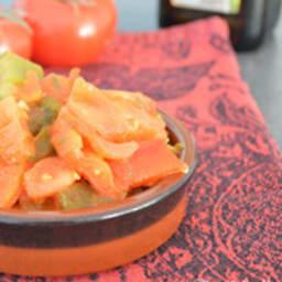 Taktouka, salade marocaine de tomates et de poivrons