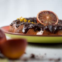 Bundt cake orange sanguine et chocolat