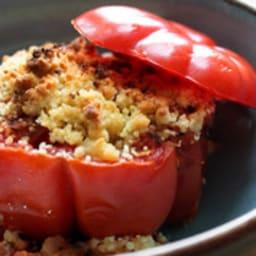Tomate farcie végétarienne façon crumble