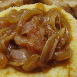 Filets mignons au cidre brut et aux raisins blonds