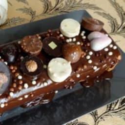 Fondant aux marrons et chocolats