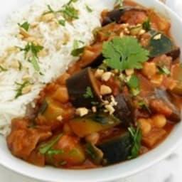 Curry de légumes végétalien au lait de coco