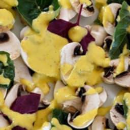Carpaccio de champignons à la mangue