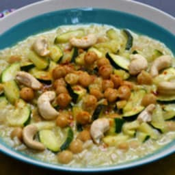 Curry de pois chiche au lait de coco et courgette