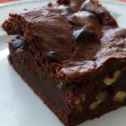 Brownie à la confiture de lait et aux noix