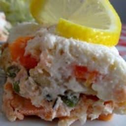 Terrine au saumon, cabillaud et noix de saint-jacques