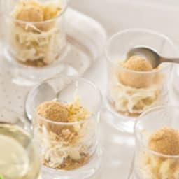 Verrines apéritives au foie gras et aux deux choux