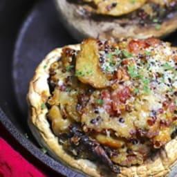 Champignons farcis au quinoa et parmesan