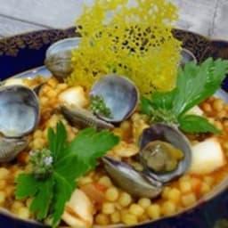 Fregola sardes aux fruits de mer et palourdes