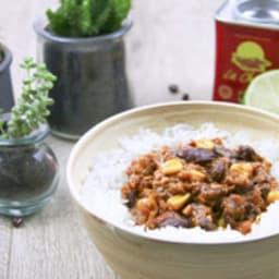 Chili aux protéines de soja texturées
