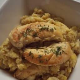 Aiguillettes de poulet et chou-fleur au curry