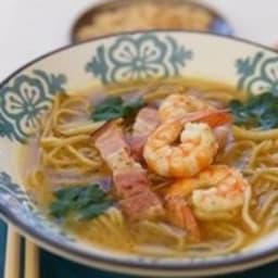 Soupe thaï crevettes gingembre