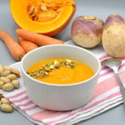 Soupe potimarron carotte navet orange