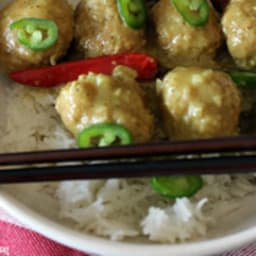 Boulettes de dinde thai curry coco
