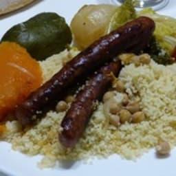 Couscous légumes et merguez