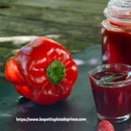 Gelée de poivron rouge et framboise