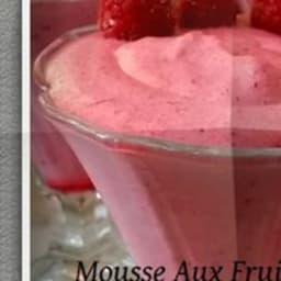 Mousse aux fruits rouge et mascarpone