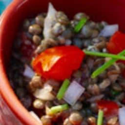 Salade de lentilles et tomates