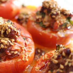 Tomates farcies aux merguez
