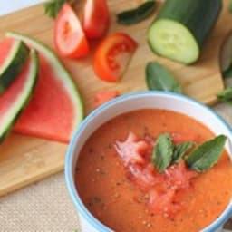 Soupe froide pastèque et tomate