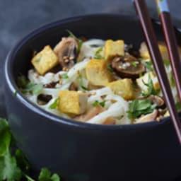 Nouille de riz au tofu mariné