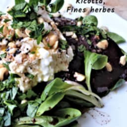 Salade de betterave, ricotta et fines herbes