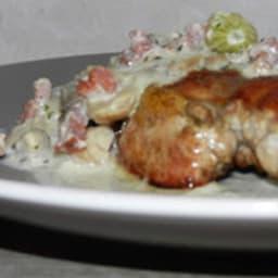 Filets de faisan sauce aux champignons et petits oignons