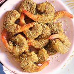 Crevettes panées à la pistache