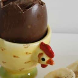 Oeuf Choco-coque et ses mouillettes Rhum Banane
