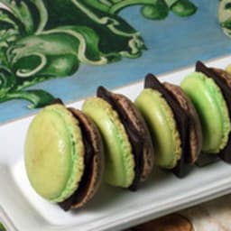 Macarons chocolat after eight