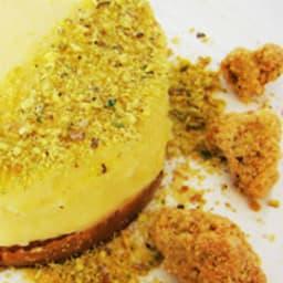Mousse citron sur pâte crue à l'huile d'olive