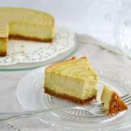Cheesecake marbré à la banane et thé Matcha