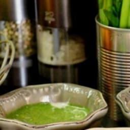 Petit gratin aux feuilles de blettes et blanc de blettes à l'ail et au persil