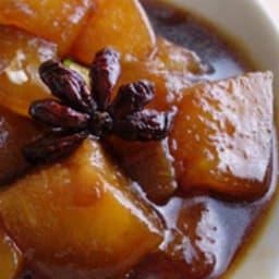 Courge cireuse à la sauce de soja